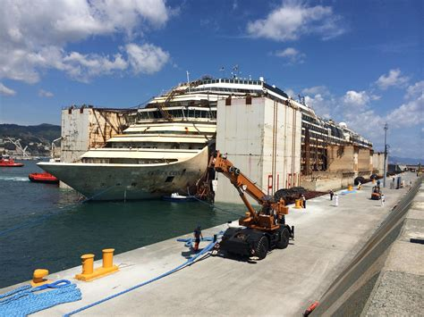 Costa Concordia Arrives in Genoa, Marks Completion of