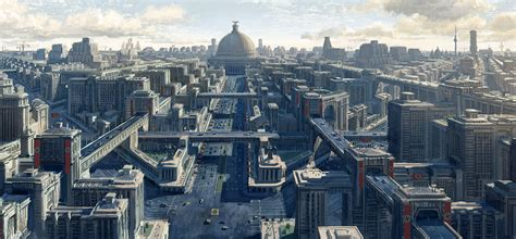 An artistic rendering of what Berlin would have eventually