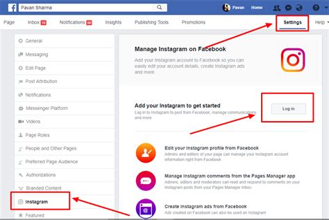 How to connect Facebook page with Instagram - Digitalgenx