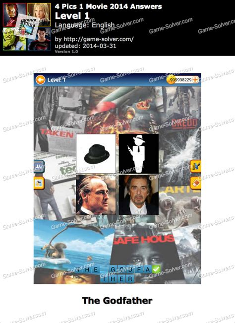 4 Pics 1 Movie 2014 Answers - Game Solver
