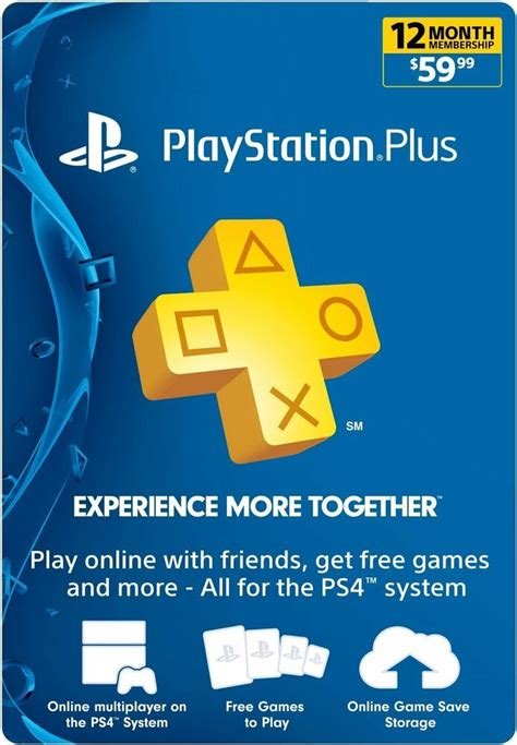 Sony PlayStation PLUS 1 YEAR (12 Month)Gamecard PSN PS3
