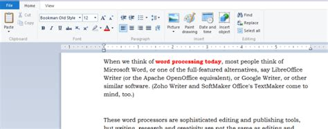 Word Processing without a Word Processor