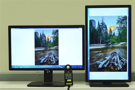 27 inches LCD monitor in portrait mode | Our camera takes