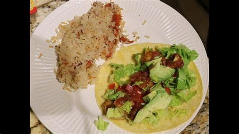 Tequila Lime Tacos & Spanish Rice | Tequila lime shrimp