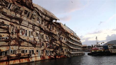 Costa Concordia as it looks today (January 2014) - YouTube